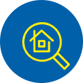 Home Under Magnifying Glass Icon